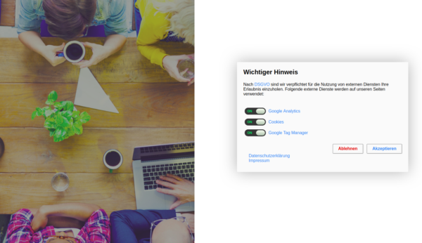 WordPress-Plugin: DSGVO Notiz