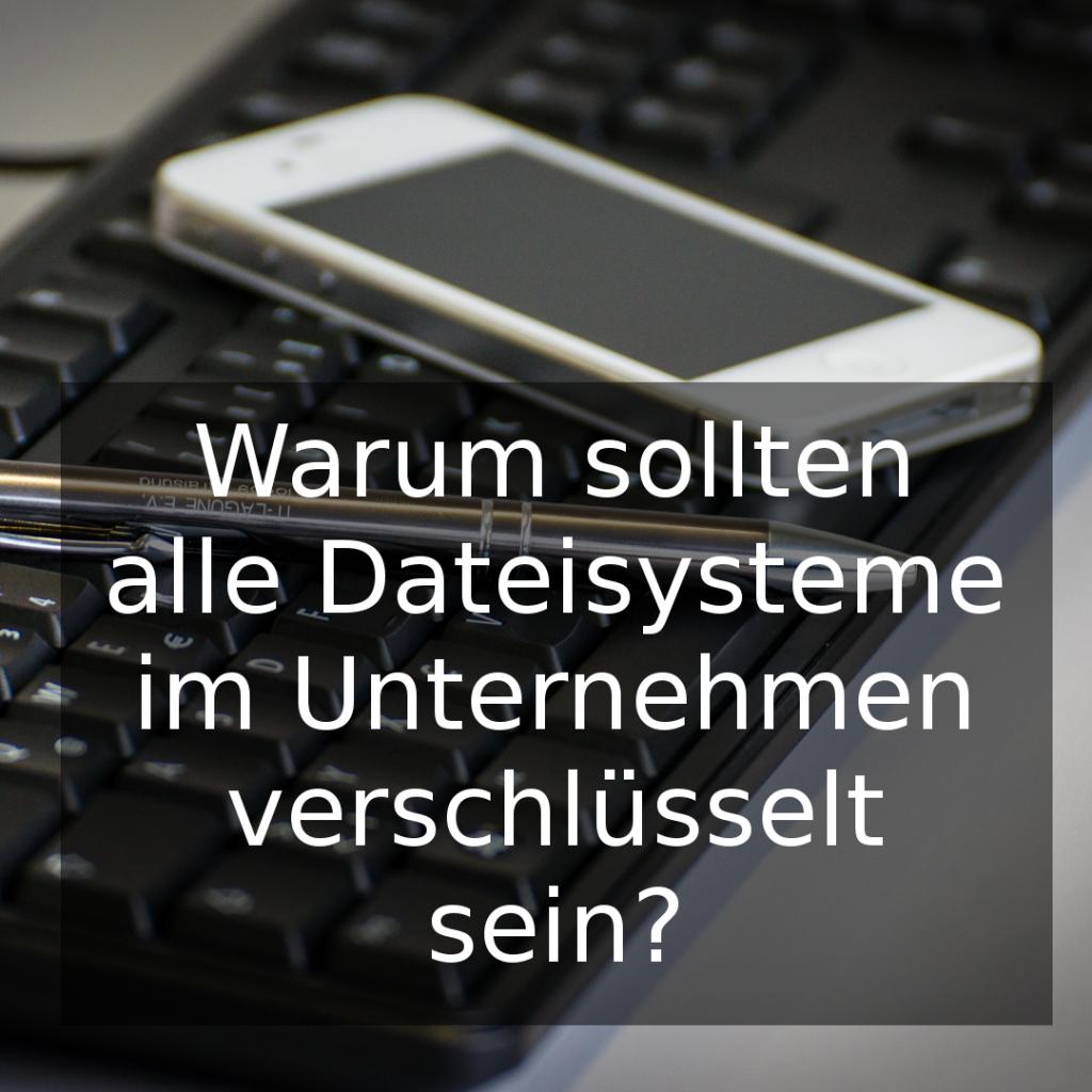 Warum Dateisystemverschlüsselung?